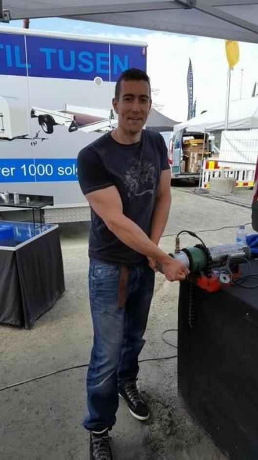 VINNEREN: Samuel Poudroux var i særklasse og stakk av med seieren med overlegne 238 Nm.