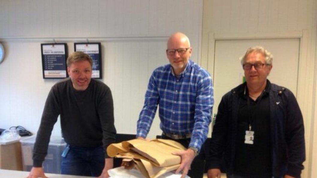 Prosjektleder Dag Ivar Borg, byggeleder Gunleik Hoffman og kontrollingeniør Kurt Sturla Ness var fornøyde med tilbudene som hadde kommet inn.