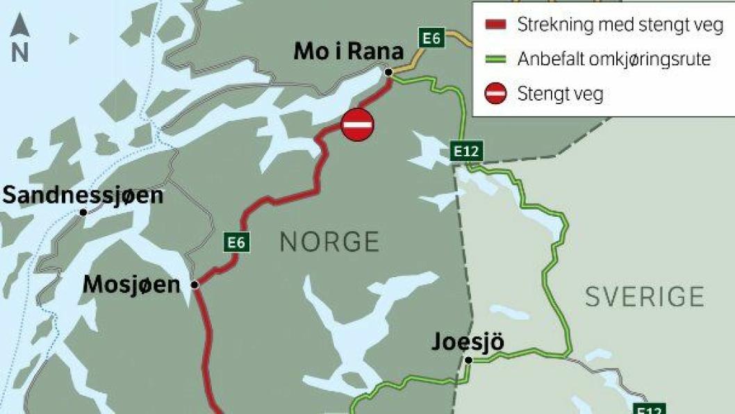 Statens vegvesen anbefaler omkjøring gjennom Sverige når de «kapper Norge i to».