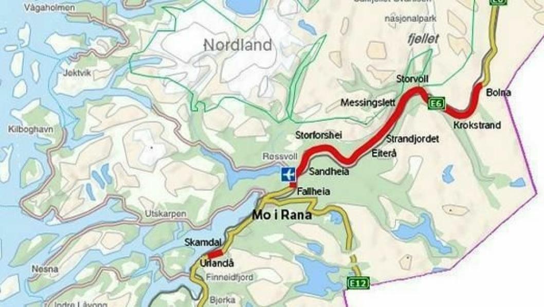 Helgeland nord er det første av i alt tre kontraktsområder for pakken E6 Helgeland. Prosjektet strekker seg over en veistrekning på 125 km, fra Korgen til Bolna. Det skal bygges 62 km vei, der 47 km er utbedringstiltak for eksisterende vei. Dersom ikke Stortinget bevilger mer penger til prosjektet, blir ikke parsellen Krokstrand-Bolna bygget.