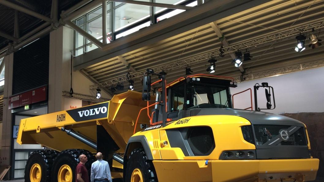 55 TONN I KASSA: Volvo A60H ble lansert på Bauma.
