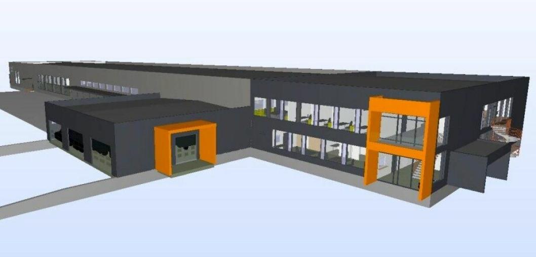 Illustrasjon over Posten/Brings nye terminal i Bjerkvik.