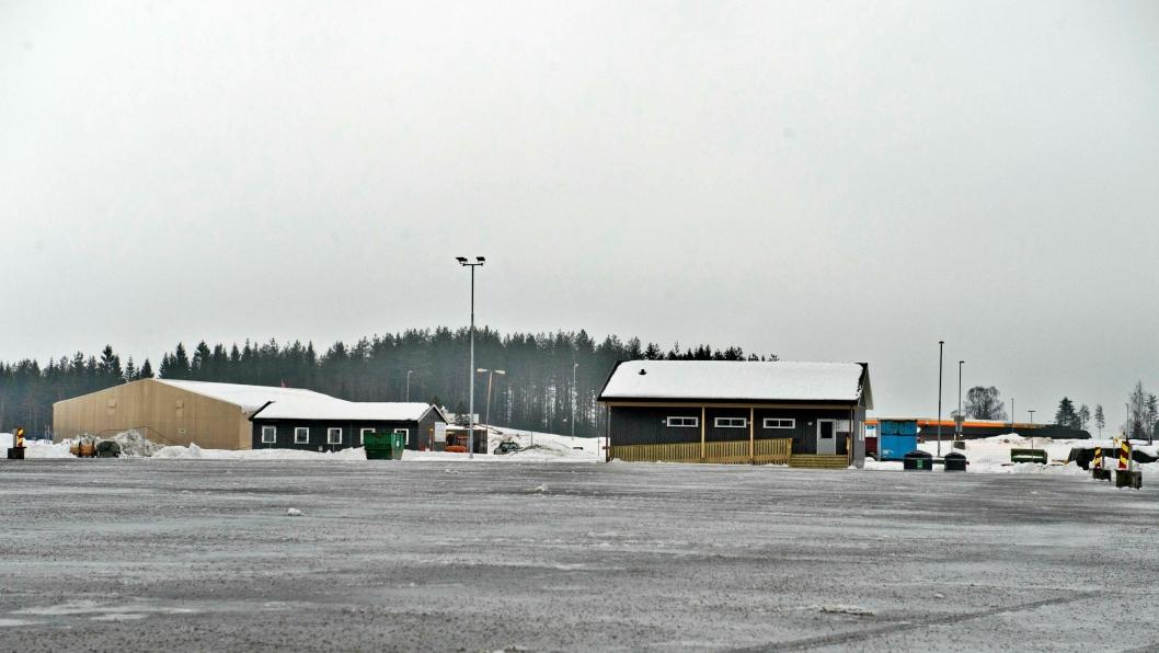 Bilde av hvileplassen i Ormlia ved E6, der innbruddet fant sted. Bildet er tatt før plassen ble tatt i bruk.