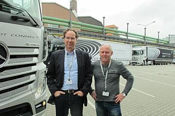 Daimlers «platooning i Düsseldorf»