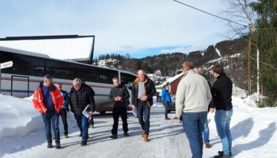 Interessen for E16 Bagn-Bjørgo er stor blant entreprenørene. 17 entreprenører deltok på tilbudsbefaringen 17. mars.