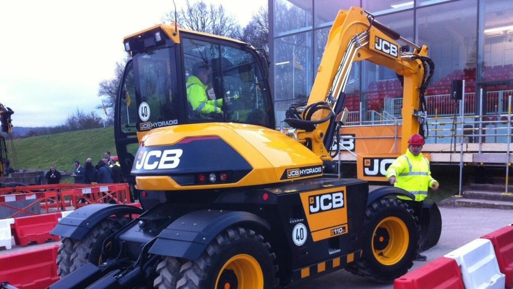 JCB Hydradig ble vist for første gang i England tirsdag 15. mars.