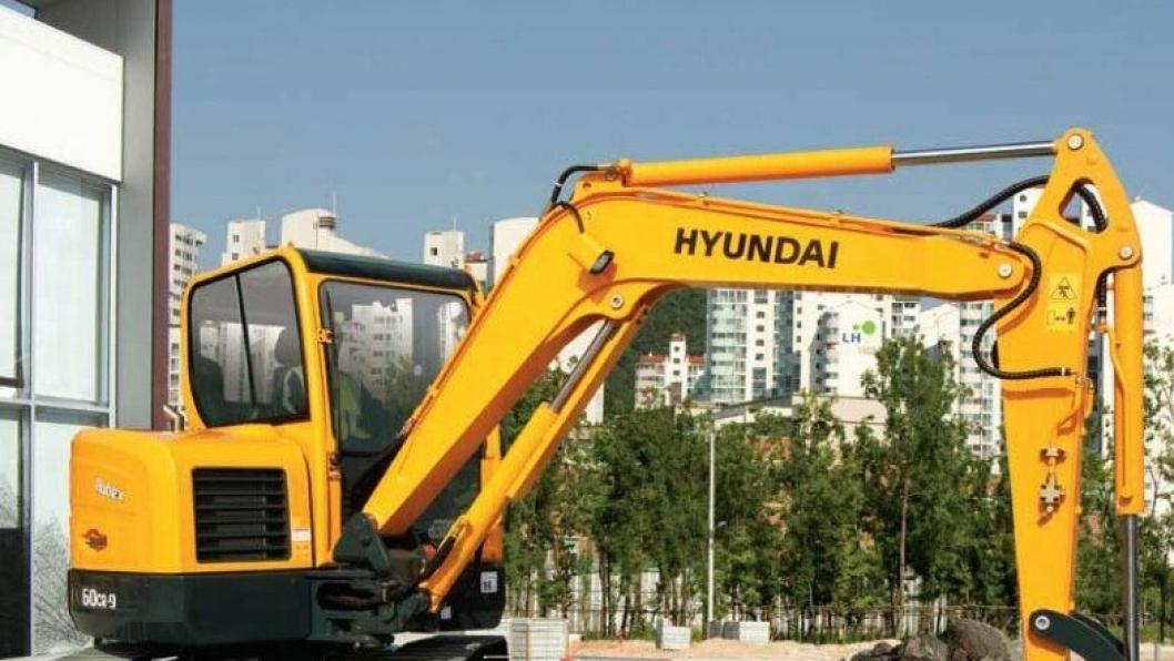 Bulder skal selge Hyundai gravemaskiner opp til og med åtte tonn. På bildet er en Hyundai R60CR-9.