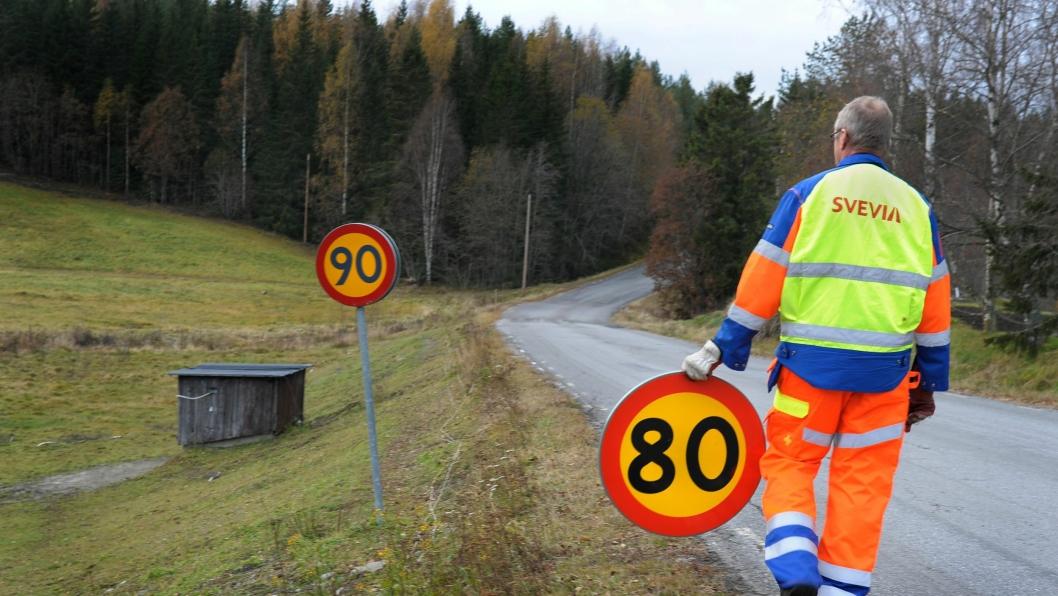 1000 km med statlig vei skal skiltes om fra 90 km/t til 80 km/t innen utgangen av 2017 dersom dersom alt går etter planen.