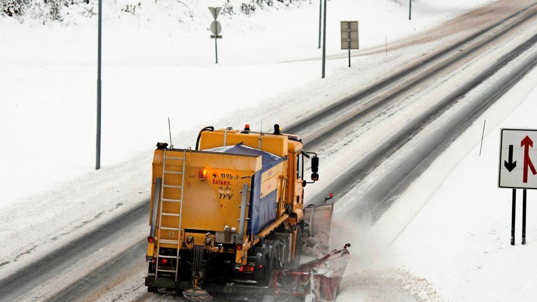 Saltforbruket på norske veier var rekordhøyt sist vinter.
