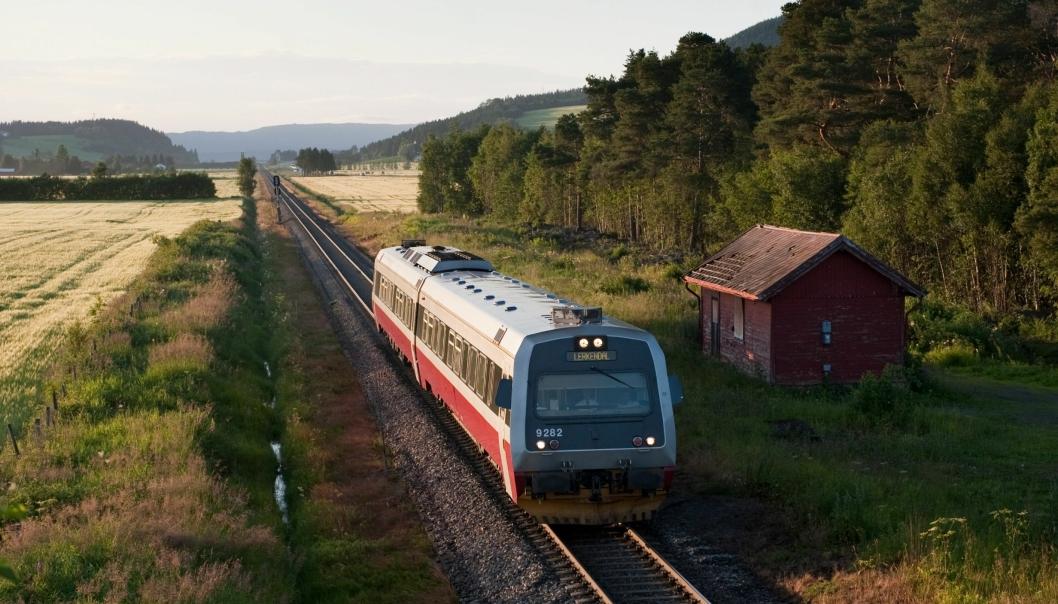Bilde fra Meråkerbanen.