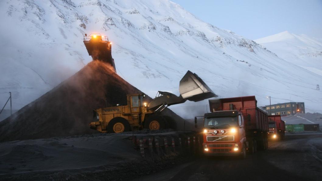 Illustrasjonsbilde av gruvedrift på Svalbard. Bildet er fra 2007.