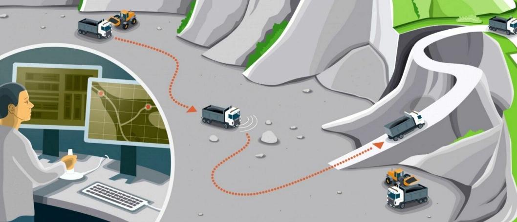 Scania har ikke lagt med bilder fra virkeligheten i meldingen om Scania Astator, men en illustrasjon.