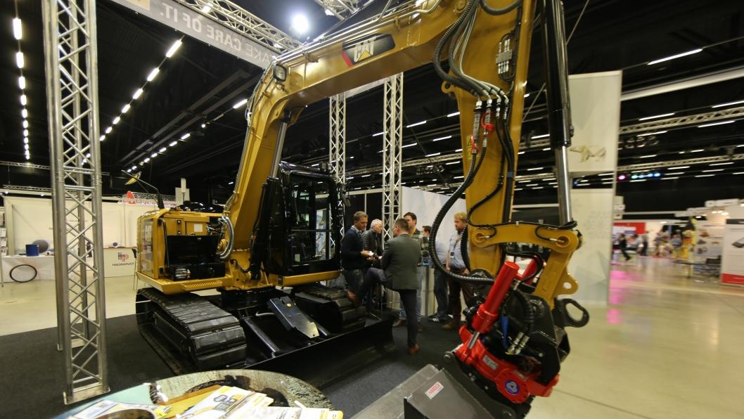 BESTSELGEREN: Pon Equipment forventer at denne maskinen blir selskapets mestselgende maskin i Norge, 8-tonneren 307E2 med fast bom.
