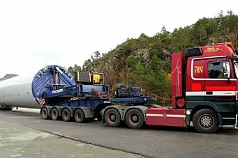 Anmeldte vindturbin-transporter