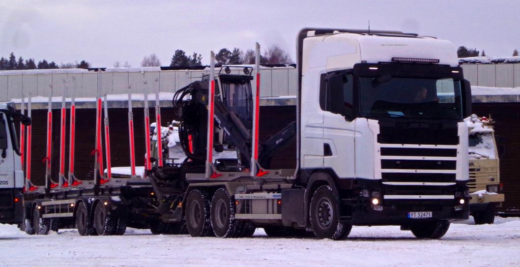 Scania prototype med norsk kjennemerke hos Norsk Scania AS i Hønefoss mandag 11. januar 2016.