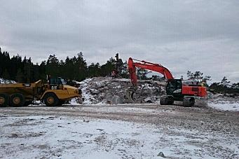 Stakk av med 17 tonns dumper