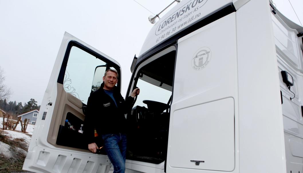 Finn Erik «Finken» Kalnæs avbildet ved en tidligere anledning. Han er oppgitt over hvordan DSV har behandlet sin norske transportører.