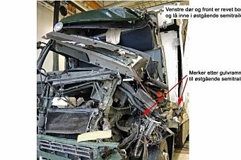 Lastebilsjåfør kjørte beinet av kollega