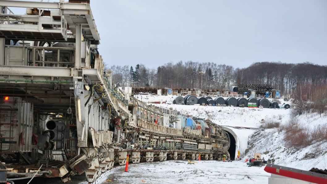 Det var tunnelboremaskinen Åsa som til slutt fikk has på Hallandsåsen. Alle