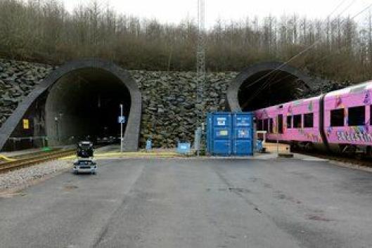 Fra den nordre tunnelåpningen.