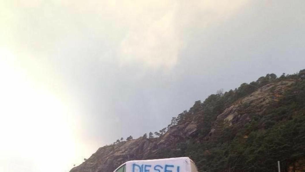 Slik gikk det med tilen til dieseltyver hos Svanevik i 2013.