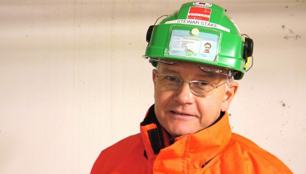 HMS- og miljøsjef Steinar Stake i Veidekke Entreprenør skjerper sikkerheten på Veidekke Entreprenørs bygge- og anleggsplasser.