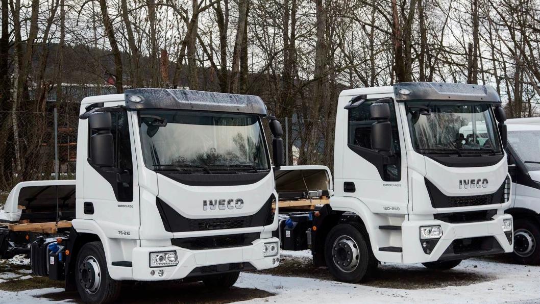 De to første chassisene av årets Truck of the Year vinner, Iveco Eurocargo kom til Norge denne uken.