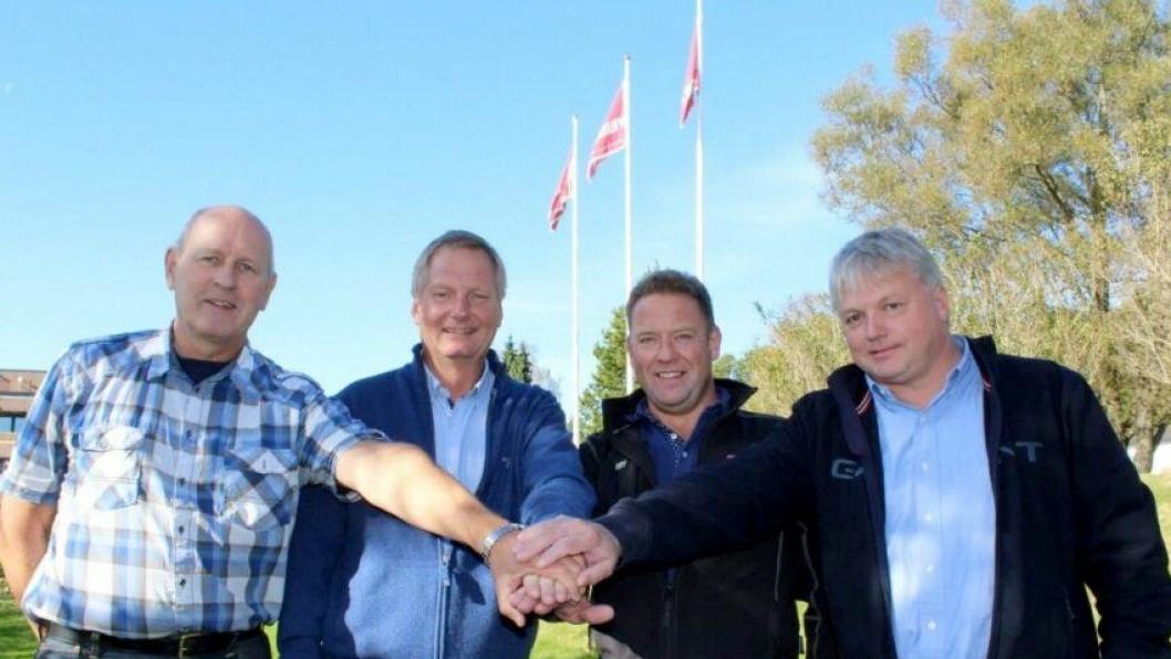 Leif Grimsrud AS på laget, her representert ved Asle M. Berg og Martin Grimsrud.