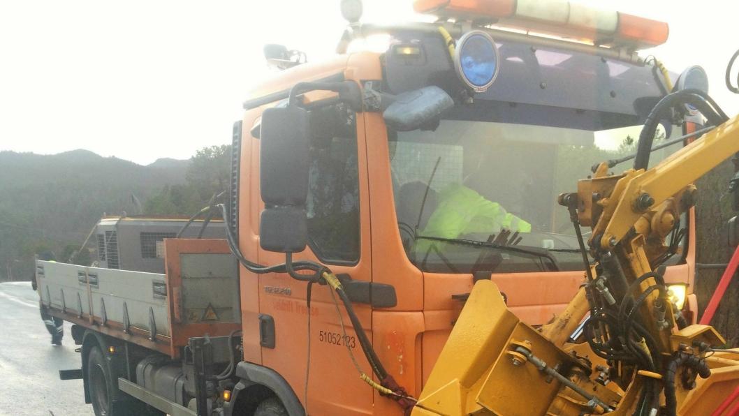 Her ble det kjøreforbud, og ingen flere brøytestikker satt ut med denne lastebilen.