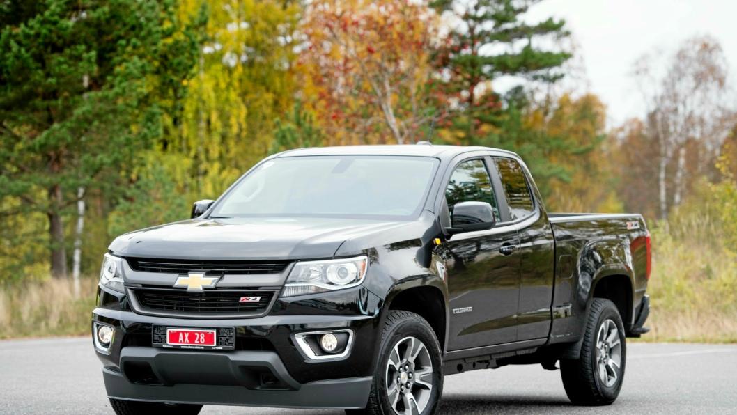 STOR: Chevrolet Colorado er lillebroren, men likevel en stor pick-up.