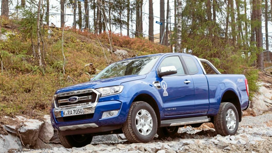 FERSK: Ford Rangeren som var med i testen kom direkte fra produksjonsbåndet.