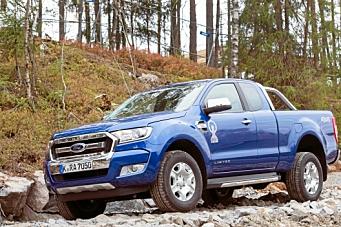 Første prøvekjøring av nye Ford Ranger