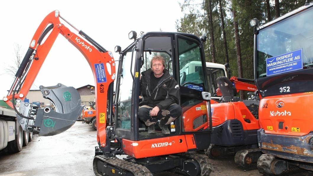Kjell Sæter og Ekspert Maskinutleie har mange Kubota-gravere. Nå har de bestilt enda flere.