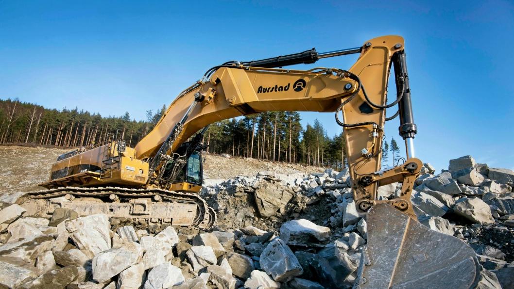 K.A. Aurstad og Statens vegvesen har godtatt straffen etter ulykken i januar 2013. Dette bildet er hentet fra en annen entreprise der K.A. Aurstad jobber for Statens vegvesen.