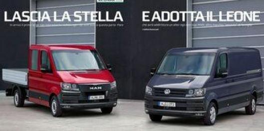 Anlegg&Transports italienske samarbeidsmagasin, Tuttotrasporti, mener den nye MAN-varebilen vil se omtrent slik ut. Bildet er basert på den nye VW Crafteren.