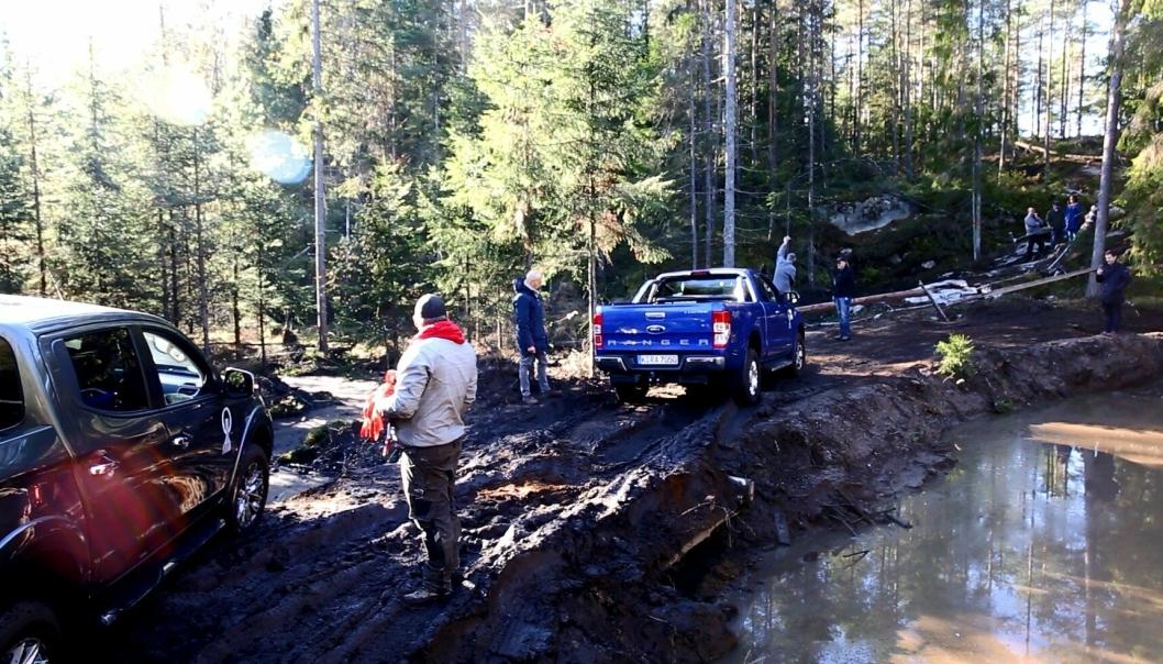 Pick-up-testing i skogen for å avgjøre hvem som skal få den europeiske prisen «International Pick-up award 2016». Alle