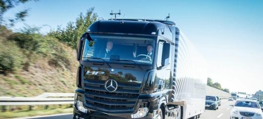Første selvkjørende serieproduserte lastebil