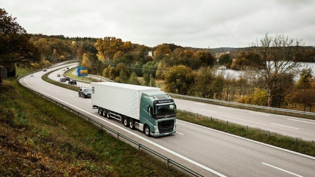 Kombinasjonen av Volvo Trucks' uavhengig forhjulsoppheng og Volvo Dynamic Steering egner seg best for langtransport.