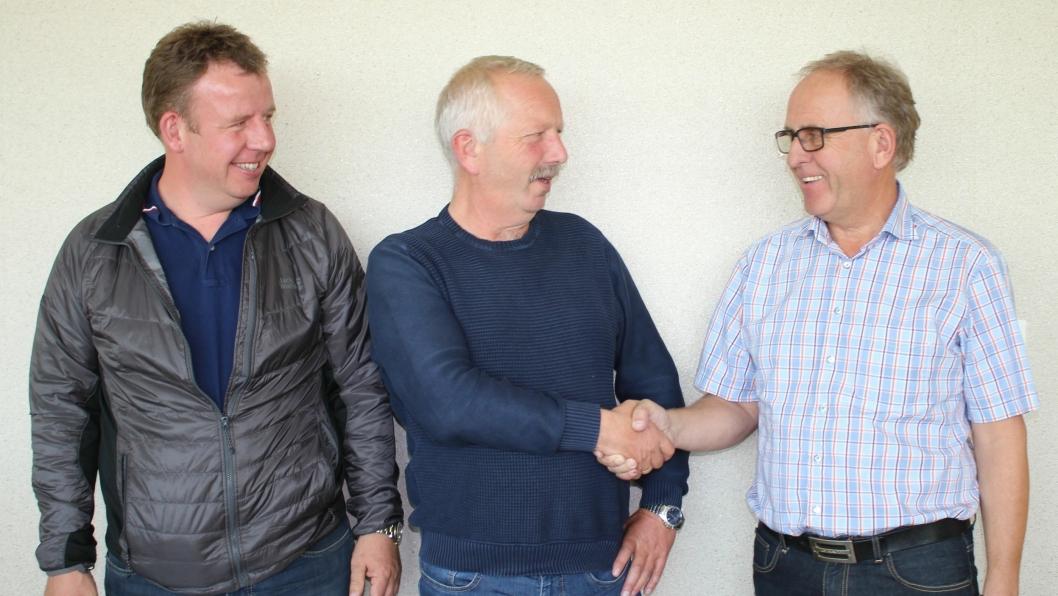 Fra venstre: Tommy Stangeland, Arne Jørmeland og Olav Stangeland.