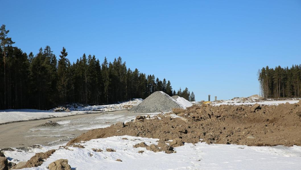 Illustrasjonsfoto fra byggingen av ny E18 i Østfold.