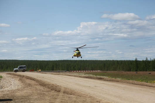 Den eneste muligheten for å komme seg til Katangskiy: Helikopter.