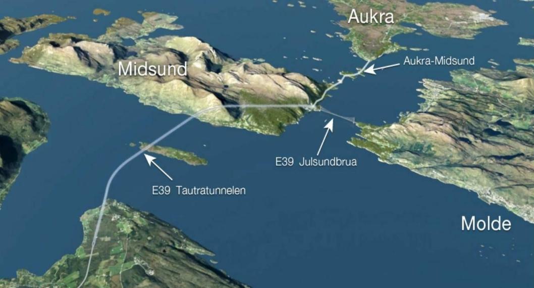 Tautratuennelen under Romsdalsfjorden er en del av prjosjektet fergefri E39.