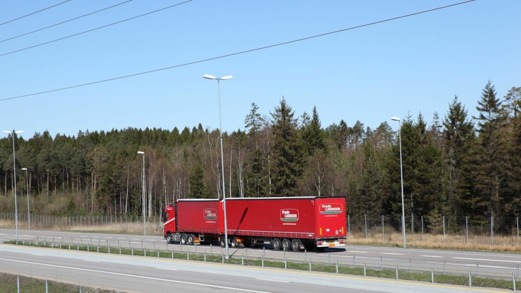 Arkivbilde av Frode Laursen-vogntog i Norge.