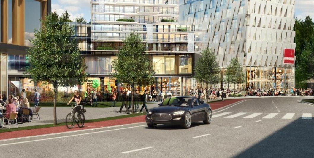 Slik ser Veidekke for seg at det nye hovedkontoret i Oslo skal se ut.