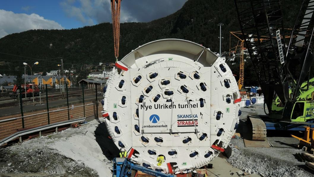 Den største TBM-en i Norge er under montering i Arna ved Bergen. ALLE
