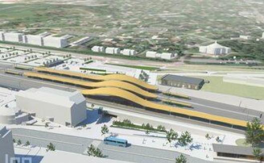 Slik skal nye Ski stasjon bli seende ut.