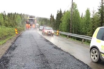 40 punkterte etter asfalt-blemme