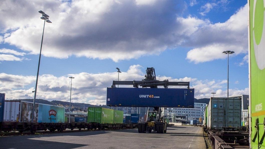Brattøra godsterminal i Trondheim er en av to testterminaler: