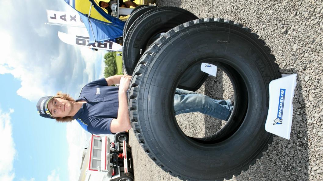 ROBUSTE DEKK: Michelins X Works-dekk kommer nå med garanti mot punktering.