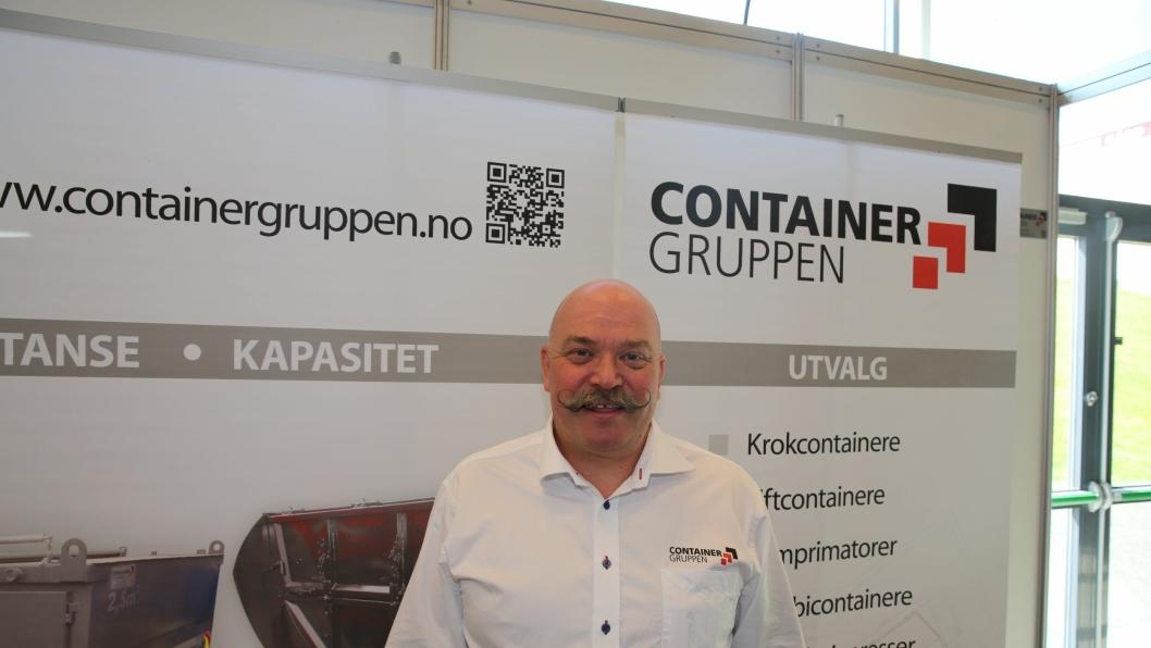 Bjørnulf Hansen i Containergruppen Norge på Transportmessa 2015.
